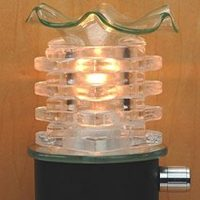 Spiked Clear Plug In Lamp jpg